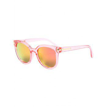 Fashion Metal Inlay Transparent Sunglasses For Women - PINK PINK