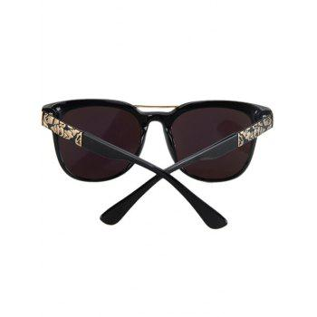 Fashion Flower Shape Bulge Black Frame Sunglasses For Women -  BLUE