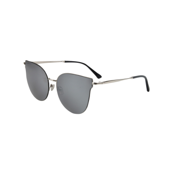 Chic Silver-Rim Cat Eye Sunglasses For Women