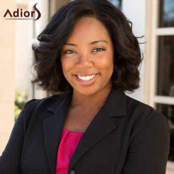 Adiors Side Part Slightly Curled Short Bob Synthetic Wig