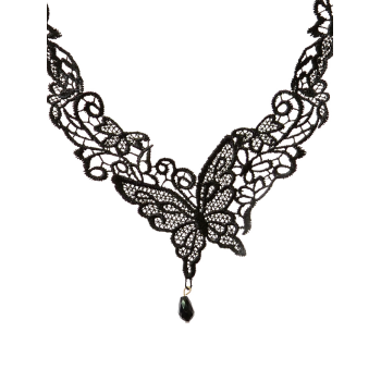 Butterfly Lace Choker - BLACK