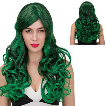 Adiors Long Color Mix Side Part Wavy Synthetic Wig