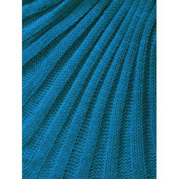 Broken Hole Double Deck Knitted Mermaid Blanket For Kids -  BLUE GREEN