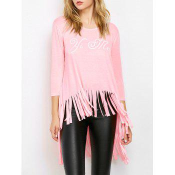 High Low Fringed Tunic Tee