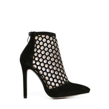 Trendy Openwork and Stiletto Heel Design Pumps For Women