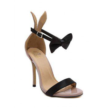 Charming Bow and Bunny Ear Design Sandals For Women