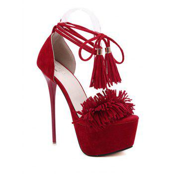 Party Fringe and Platform Design Sandals For Women