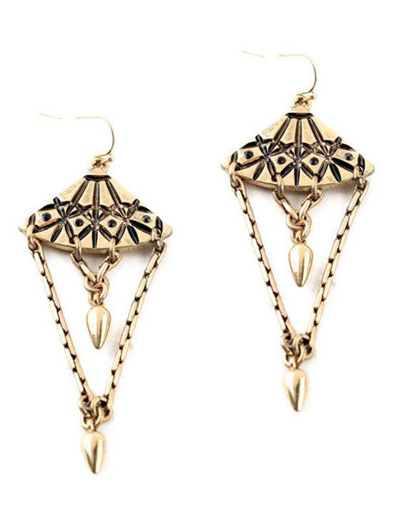Pair of Vintage Alloy Bullet Drop Earrings - COPPER COLOR
