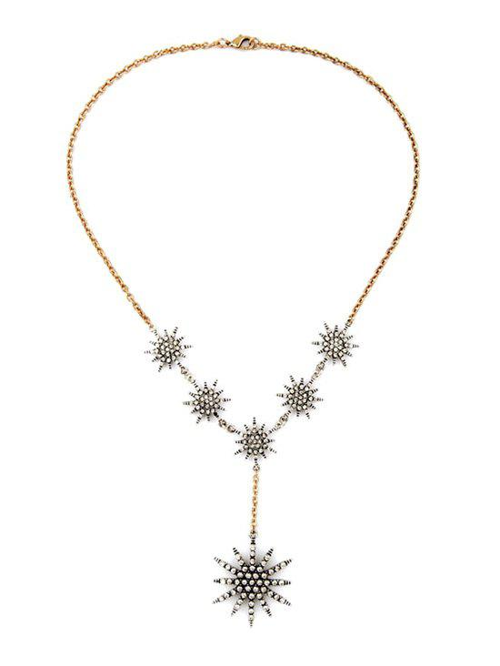 Star Rhinestone Necklace - GOLDEN