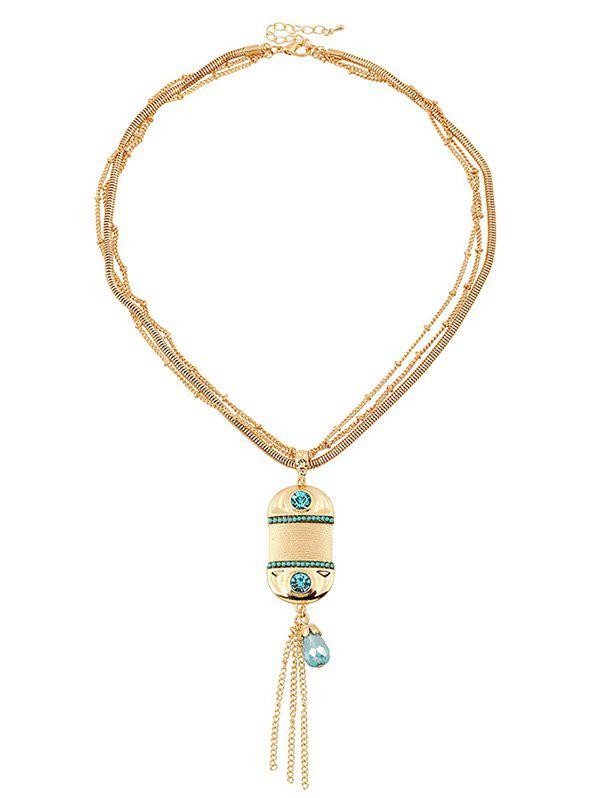 цена Tassel Faux Beryl Multilayered Necklace