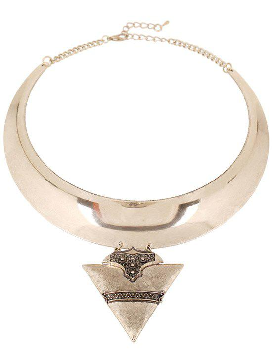 Triangle Chunky Torque Necklace - GOLDEN