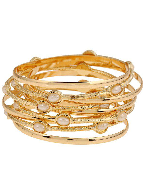 Alloy Multi-Layered Bracelet - GOLDEN