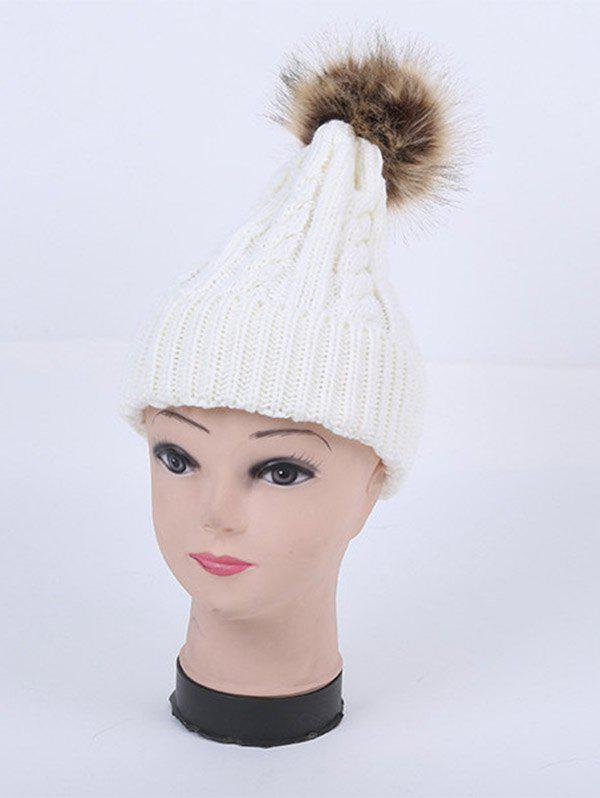 Stripy Cable Knit Pom Hat pom pom cable knit beanie hat