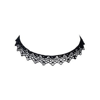 Concise Lace Floral Openwork Choker