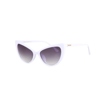 Chic Letter T Shape Inlay Sunglasses For Women - WHITE WHITE