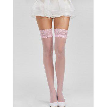 Lace Panel Sheer Over Knee Stockings