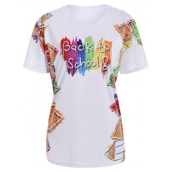 Back To Shool Graphic Print T-Shirt