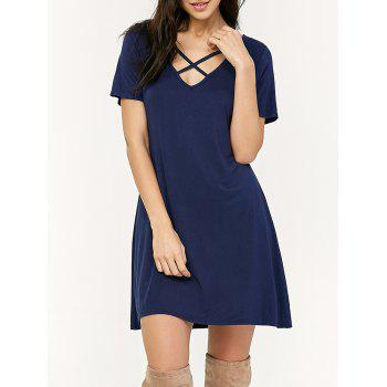Criss Cross Mini Swing Dress