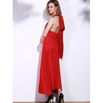 Backless Party Formal Halter Maxi Prom Evening Dress - S S