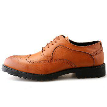 Lace Up Wingtip Formal Shoes - [