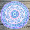 Indian Elephant Print Chiffon Round Beach Throw - PINK ONE SIZE