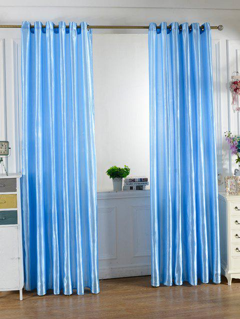 Grommets Ring Roller Blackout Curtain - BRIGHT BLUE 100*250CM