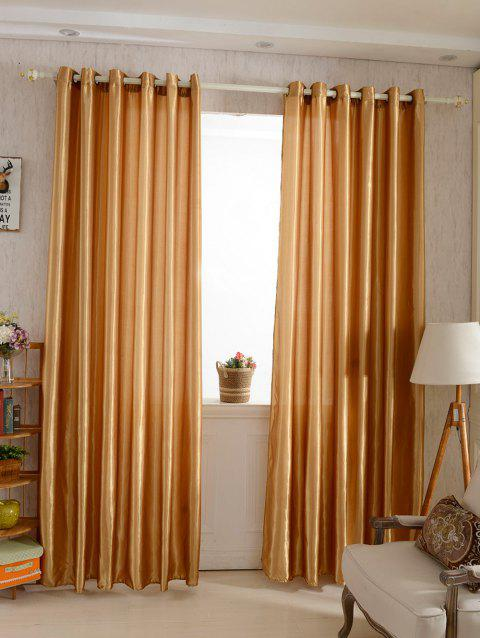 Grommets Ring Roller Blackout Curtain - DARK KHAKI 100*250CM