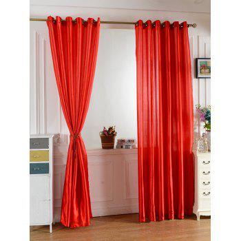 Grommets Ring Roller Blackout Curtain - RED RED