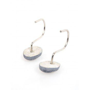 12 Pcs Stone Shape Shower Curtain Hooks -  GRAY