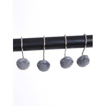 12 Pcs Stone Shape Shower Curtain Hooks - GRAY GRAY