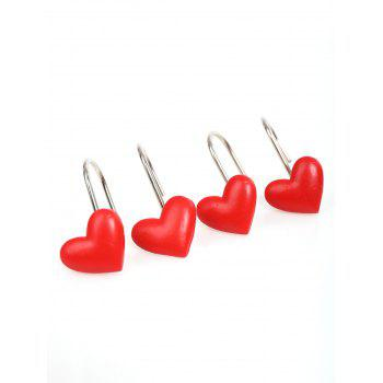 Heart Shape 12 Pcs/Pack Shower Curtain Hooks