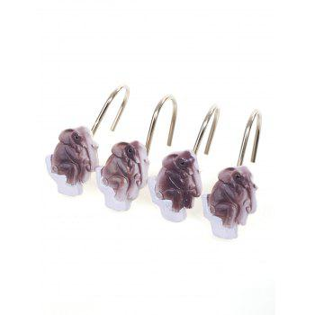 12Pcs/Set Elephant Shower Curtain Hooks