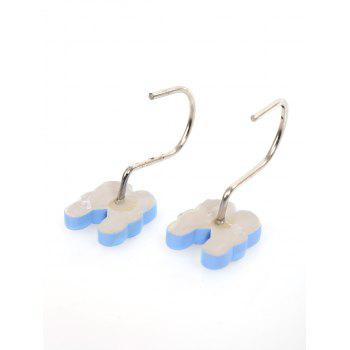 Slippers Shape 12 Pcs/Pack Shower Curtain Hooks -  AZURE