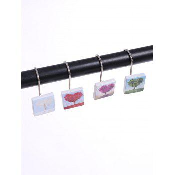 12PCS Mixture Bath Shower Curtain Hooks - COLORMIX COLORMIX