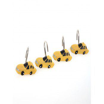 12Pcs Resin Shower Curtain Hooks Rings -  YELLOW