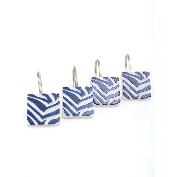 12Pcs/Set Resin Bath Shower Curtain Hooks -  BLUE/WHITE