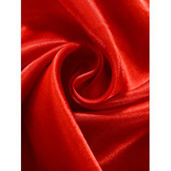 Grommets Ring Roller Blackout Curtain - RED 100*200CM