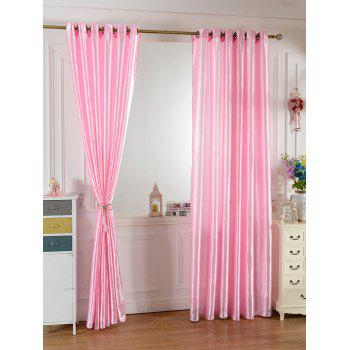 Grommets Ring Roller Blackout Curtain - PEACH PINK 100*250CM