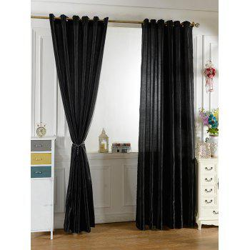 Grommets Ring Roller Blackout Curtain - BLACK 100*200CM