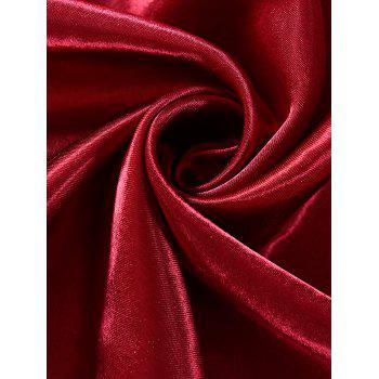 Grommets Ring Roller Blackout Curtain - WINE RED 100*200CM