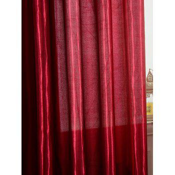 Grommets Ring Roller Blackout Curtain - WINE RED 100*250CM