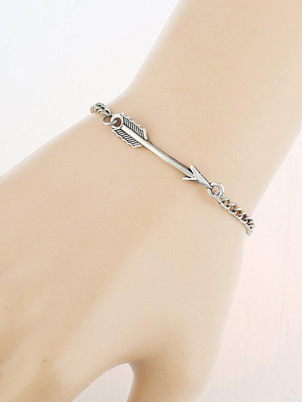 Love Arrow Vintage Chain Bracelet - SILVER