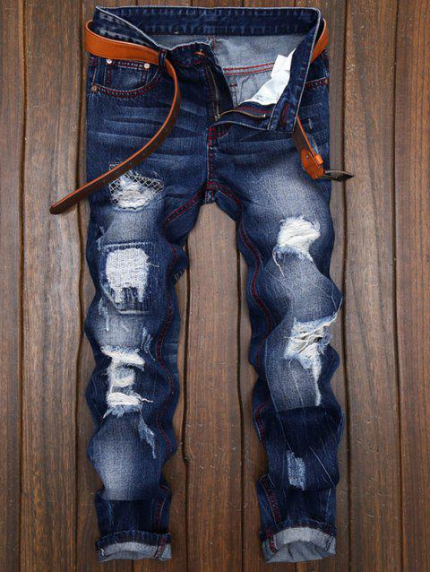 Ripped and Repaired Jeans