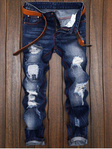 cd9877642539f Ripped and Repaired Jeans