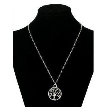 Life Tree Pendant Necklace - SILVER