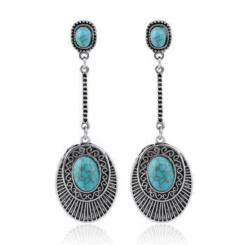 Faux Turquoise Drop Earrings