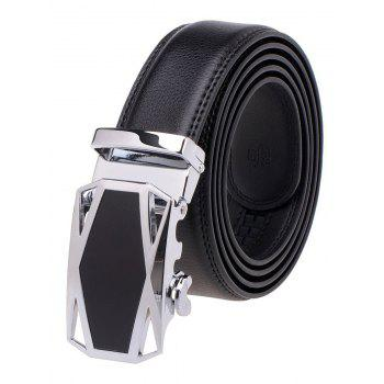 Cut Out Racing Car Auto Buckle Leather Belt