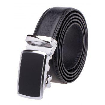 Simple Alloy Auto Buckle Leather Belt