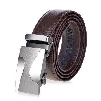 Alloy Auto Buckle Leather Belt