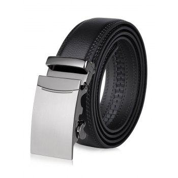 Smooth Alloy Auto Buckle Leather Belt